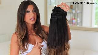 getlinkyoutube.com-100 Layers of Hair Extensions | Luxy Hair