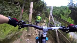 getlinkyoutube.com-Feiyu WG Wearable Gimbal Mountain Bike Trail Riding