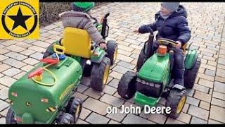 John Deere Ground Force + WaterTrailers PEG PEREGO! TOY TRACTORS for CHILDREN