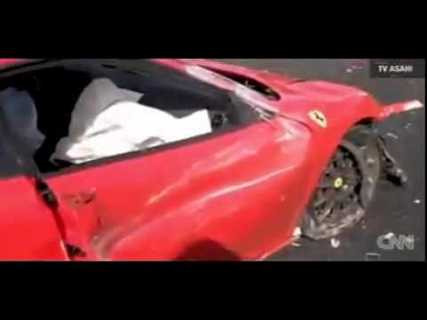 Acidente com 8 Ferraris, 3 Benz e 1 Lamborghini - Japão Dez/2011