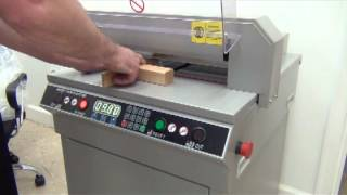 getlinkyoutube.com-450VS Digitally Controlled Electric Paper Cutter