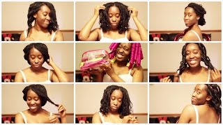 getlinkyoutube.com-How To: Quick & Easy Heatless Hair Styles! + CURLFORMERS GIVEAWAY! | Jennifer Agwunobi ♥