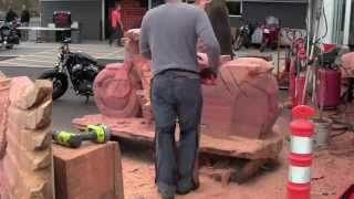 getlinkyoutube.com-Chainsaw Carved wood Harley Davidson Motorcycle