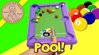 getlinkyoutube.com-Mini Desk Top Novelty Pool Table Dollar Store Game, Ja-Ru Toys