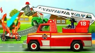 getlinkyoutube.com-Мультики про машинки. Пожарная машина и гоночные машинки в мультике Марафон. Мультфильм для детей.