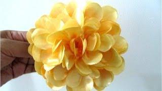 getlinkyoutube.com-Moños en tela para el cabello  flores francesillas amarillas