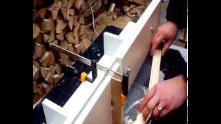 getlinkyoutube.com-Изготовление боковой планки магазинной рамки 145 мм сверление и выборка Гофмановского разделителя
