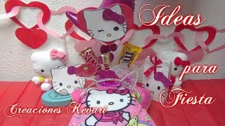 getlinkyoutube.com-Ideas para fiesta de Hello Kitty/ Dulcero,Invitación,Centro de Mesa,Orejas de Kitty
