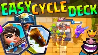getlinkyoutube.com-CLASH ROYALE :: SUPER EASY CYCLE DECK :: 1000+ TROPHIES BROUGHT ME TO LEGENDARY ARENA!!