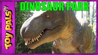 getlinkyoutube.com-DINOSAUR PARK Tyrannosaurus Trek in OBX, North Carolina Jurassic Park Toypals.tv