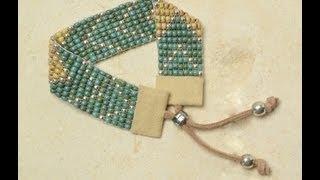 getlinkyoutube.com-Tricks to Looming and Bead Weaving