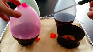 getlinkyoutube.com-How To Make Chocolate Balloon Bowls...