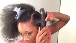 getlinkyoutube.com-.::Natural Hair Flat Iron Routine (Updated)::.
