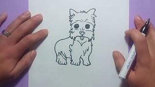 getlinkyoutube.com-Como dibujar un perro paso a paso 35 | How to draw a dog 35