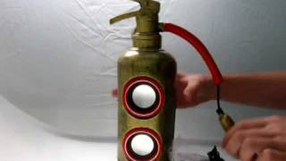 getlinkyoutube.com-Fire extinguisher speaker