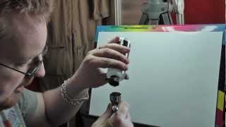 getlinkyoutube.com-Airbrush fine detail with waterbased paint Pt1 - Auto Air