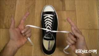 getlinkyoutube.com-How to tie a Shoe Lace in 1 Second