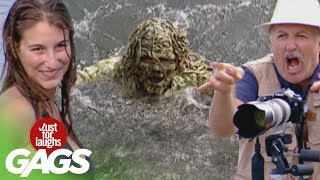 getlinkyoutube.com-River Monster Pranks - Best of Just For Laughs Gags
