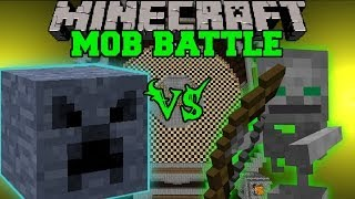 getlinkyoutube.com-MEGA BLOCK VS SKELETON FRIEND - Minecraft Mob Battles - Anti Plant Virus & BossCraft 2 Mods