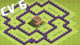getlinkyoutube.com-Melhor Layout CV 6 Guerra com Dispersor Aéreo   Best Town Hall 6 War Base Air Sweeper Clash of Clans