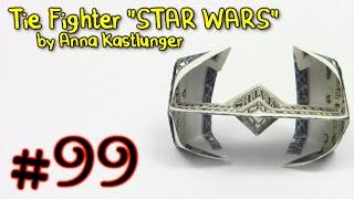 getlinkyoutube.com-Origami Money Tie Fighter STAR WARS by Anna Kastlunger  - Yakomoga dollar Origami tutorial