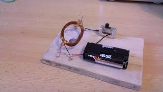 getlinkyoutube.com-Jak zrobić prosty silnik elektryczny zasilany prądem stałym (silnik prądu stałego)