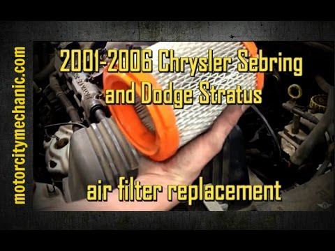 2001-2006 Chrysler Sebring and Dodge Stratus air filter replacement