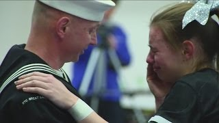 Navy Dad Gives Daughter Homecoming Surprise