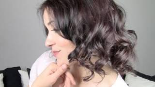 getlinkyoutube.com-Peinado Simulando Cabello Corto Rizado - Short Hair Simulation