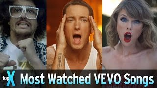 getlinkyoutube.com-Top 10 Most Watched VEVO Songs - TopX