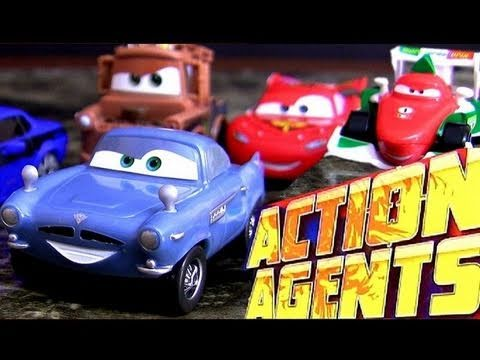 Cars 2 Action Agents Toy review from Disney Pixar Mattel collection