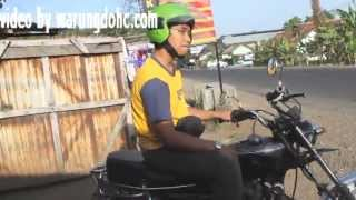 getlinkyoutube.com-test ride GL 100  v twin made in semangat putra