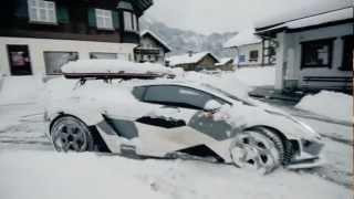 getlinkyoutube.com-Lambo Snow Drifting
