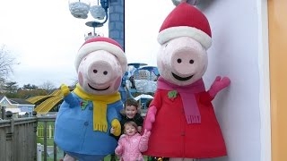 getlinkyoutube.com-Peppa Pig World at Christmas with Santa ALL RIDES and ATTRACTIONS Paultons Park
