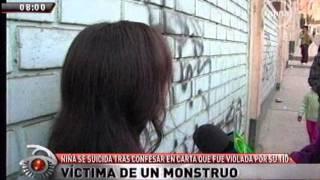 Niña se suicida por continuas violaciones de su tío