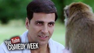 Akshay Kumar slapped by a Monkey - Comedy Sequence - Housefull