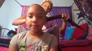 getlinkyoutube.com-Protective hairstyle/quick halo braid