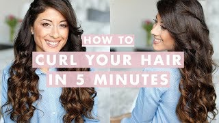 getlinkyoutube.com-How to Curl Your Hair in 5 Minutes