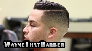 getlinkyoutube.com-Featured Barbers #1 WayneThatBarber San Bernardino, by MarioNevJr: Comb Over/ Side Part