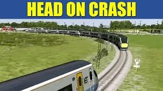 getlinkyoutube.com-Train Simulator 2013 - Super Express HEAD ON CRASH (Commentary)
