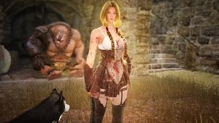 getlinkyoutube.com-Black Desert Valkyrie level 50 Gameplay + (Best Grinding spot lvl50-55)