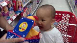 getlinkyoutube.com-Funny Baby Scared by Jack in The Box