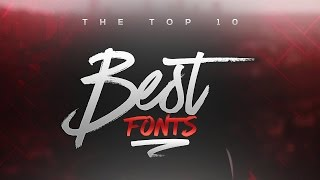getlinkyoutube.com-Best FREE Fonts to Use for YouTube 2016! (for Banners/Headers/Logos)