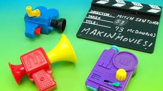 MCDONALD'S MAKIN' MOVIES 1993 HAPPY MEAL TOY COLLECTIONE