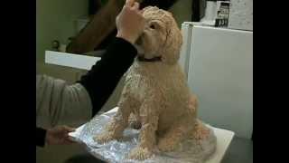 getlinkyoutube.com-Make a sculpted dog cake