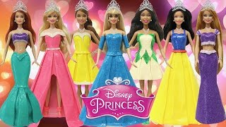 "getlinkyoutube.com-Play Doh Dresses ""Disney Princess"" Ariel Tiana Cinderella Snow White Aurora Belle Rapunzel"