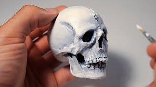 getlinkyoutube.com-Human Skull. Sculpting Process