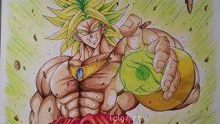 getlinkyoutube.com-Drawing Broly ► The Saiyan of Legend [Dragon Ball Z]