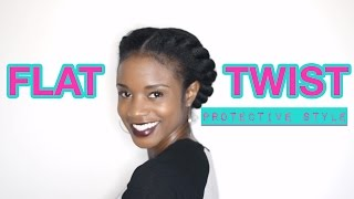 getlinkyoutube.com-NATURAL HAIR Two strand flat twist protective style