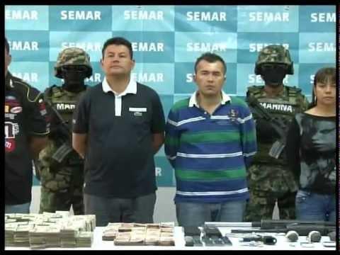Presenta SEMAR a 'zetas' detenidos en Lomas de San Alfonso